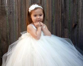 5% OFF White tutu dress White flower girl dress. whitetutu dress flower girl tutu dress white tutu dress