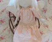 Handmade Collectible Primitive Prim Cloth Rag Doll Angel
