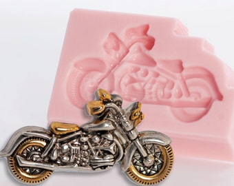 Silicone Mold Motorcycle Fondant, Chocolate, Candy, Food Safe Flexible Sweets Mould (816)