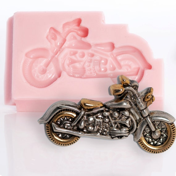 Motorcycle Mold Flexible Silicone For Polymer Clays Resin