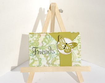 "Mini scrapbook wallet album - ""Friends"""