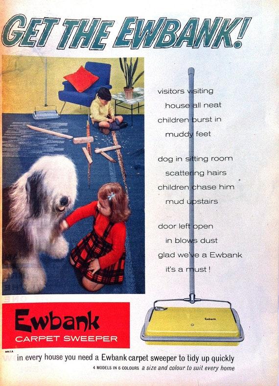1950s Ewbank Carpet Sweeper Sheepdog And Children