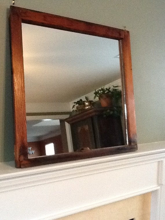 Rustic Wood Windows : Rustic wood window pane mirror by thedecorativecompany on etsy