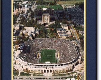 Notre Dame Stadium Photograph, Print, Picture - Touchdown Jesus