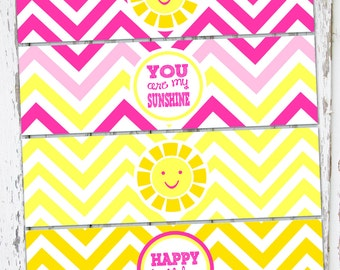 INSTANT DOWNLOAD - You Are My Sunshine Sign - Drink Wraps