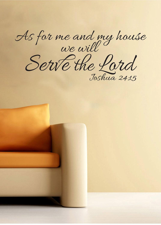 Joshua 24 15 Scripture Religious Wall Vinyl Bible Verse As For
