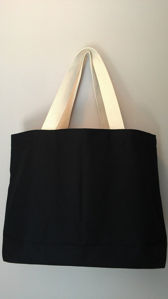 Tote Choice No.2 Black Cotton Canvas Tote with any embroidery design in my shop