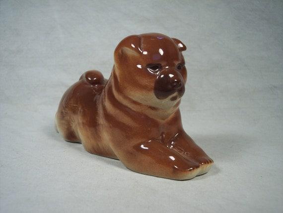 Ceramic Lomonosov Russian Porcelain Chow Chow Dog