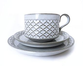 Vintage // IHQ // Coffee and tea trio set // Cordial // Jens Quistgaard // Richard Nissen // Bing & Grøndahl // Danish Design // Denmark