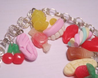 Custom Pick'n'Mix Sweets Charm Bracelet, Fimo Polymer Clay