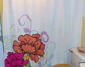 "Shower Curtain - ""Patterned Petals"""