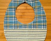 RESERVED FOR LISA:  plaid quilted reversible baby bib