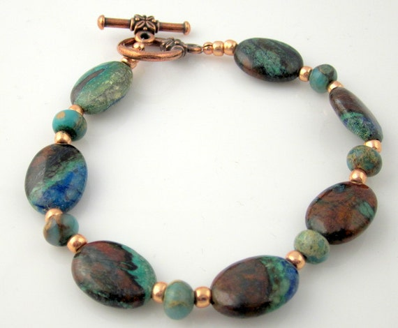 Handmade natural stone bracelet beaded bracelet by ramonahall for Jewelry made from kidney stones