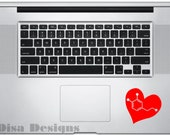 "3"" x 3"" Dopamine Heart  vinyl decal - Trackpad decal - Macbook decal - Car decal - Window decal"
