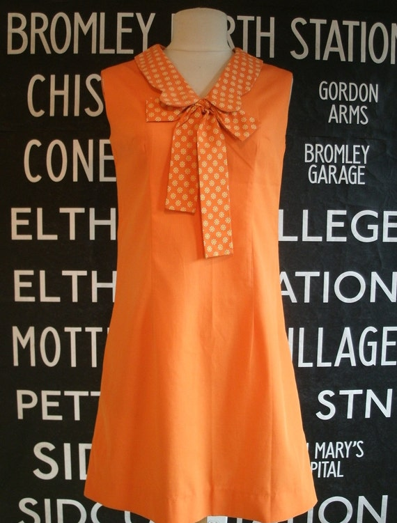1960's Mod Shift Minidress Petite