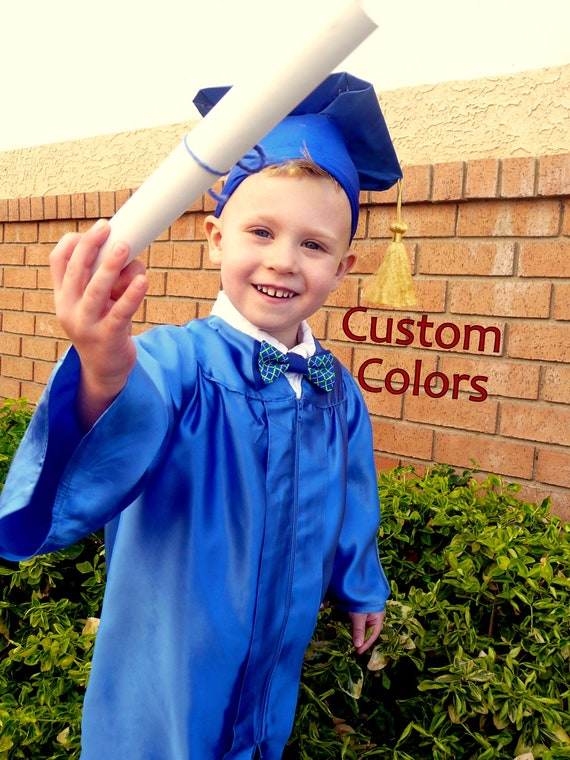 Items similar to CUSTOM COLOR Toddler and Baby Graduation Cap and ...