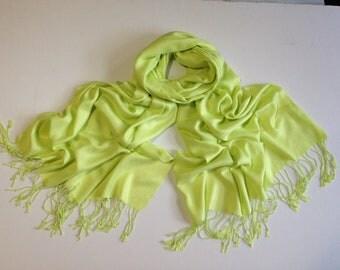 pale-apple-green pashmina scarf, lime green pashmina shawl, olive green fashion scarf, pashmina scarf, pashmina shawl, scarf, shawl