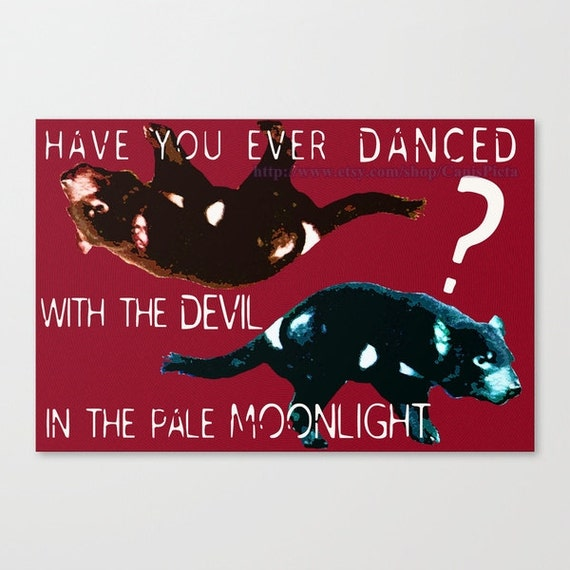 Wild Tasmanian Devil 10x7 Joker Quote Pop Wall Art Graphic Print Home Decor For Wildlife Unique Photography Text Animal Dance Geek Gamer Red