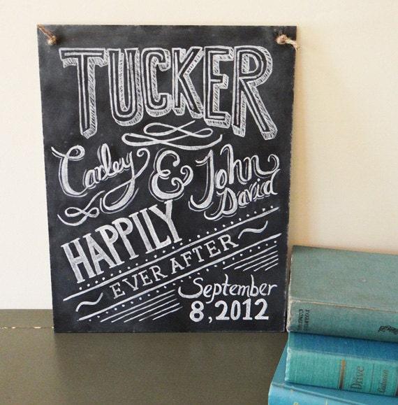 Custom Wedding Chalkboard Sign - Chalkboard Art - Gift for Newlyweds - Personalized Wedding Gift - Chalkboard Decor