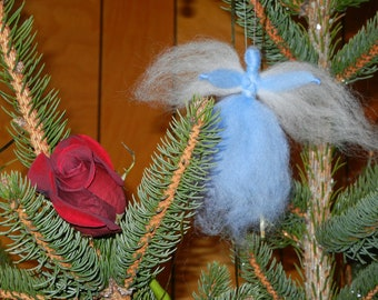 Set of 4 Petite Angel Ornaments - wool - Waldorf style - Custom colors - item 1-5001