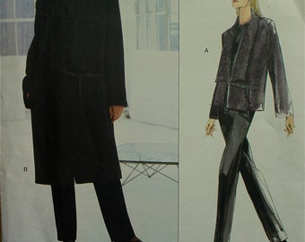 Jacket & Pants by Donna Karan -1990's- Vogue American Designer Pattern 2192 Uncut  Sizes  8-10-12  Bust 31.5 -32.5- 34""