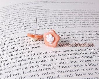 Button flower earrings