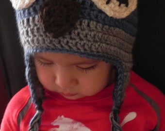 Owl Hat/ Sleepy owl hat/Boy hat