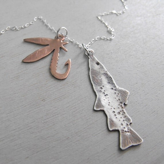 fly fisher necklace