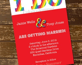 rainbow wedding invitation i do invite colorful wedding invitation rainbow invitation rainbow - Rainbow Wedding Invitations