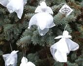 Angels,  handmade textile doll, vintage decor, OOAK