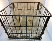 Metal Milk Crate, Dean Milk Company 1959 Storage Shelf