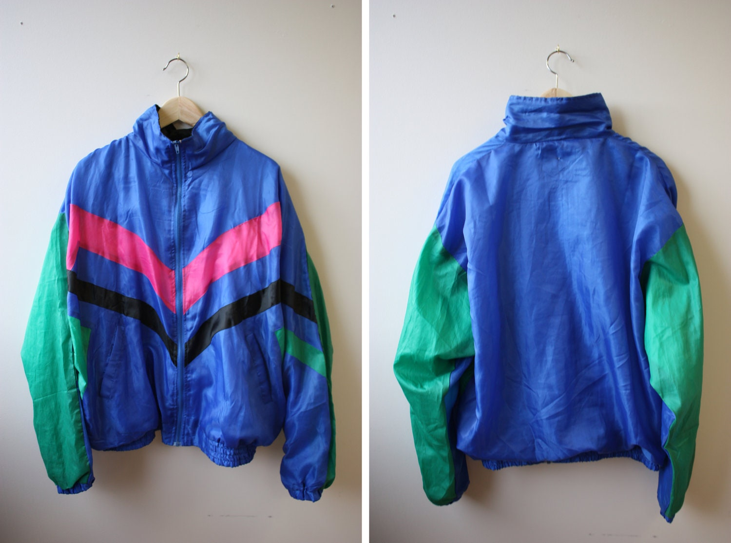 Vintage 80s/90s windbreaker jacket 4 neon colors