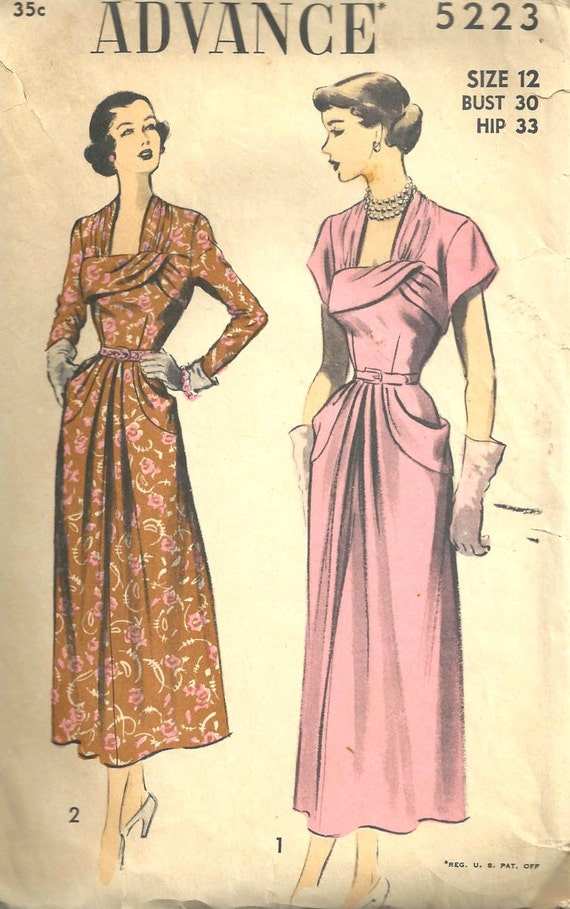 Reserved for Shamila - UNCUT  Advance Pattern 5223 Dress Vintage size 12 FREE SHIPPING