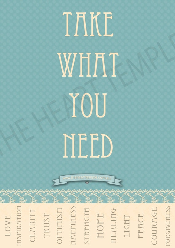 Take What You Need Poster Print Revolution by TheHeartTemple: https://www.etsy.com/listing/118175234/take-what-you-need-poster-print