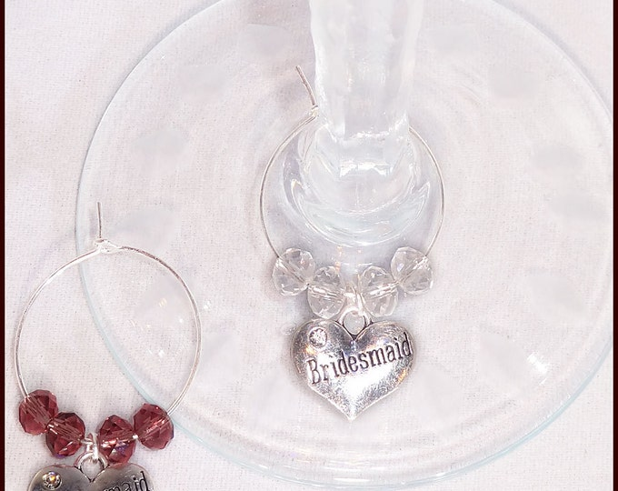 Wedding Gift Wine Charms for Bridesmaid and Groomsman