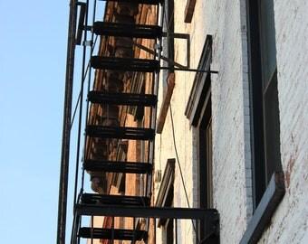 Fire Escape, Brooklyn New York, Urban, fine art photography