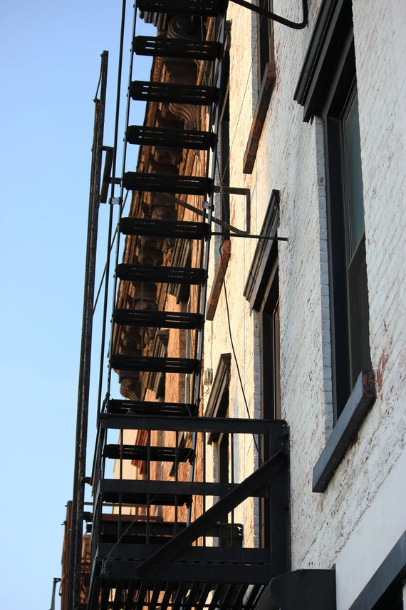 Fire Escape, Brooklyn New York, Urban, fine art photography