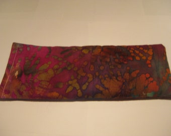 Flax Seed Rest Reiki and Relaxation HERBAL EYE PILLOW in Batik Blast:  Charites Blend