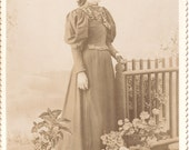 Unidentified Antique Cabinet Card, Bloomer, Wisconsin Vintage Photo