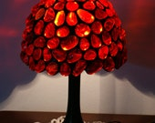 Red Stained Glass Lamp - Anazie