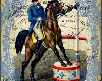 Original Print French Circus Ring Master  le Cirque Series Ready for Framing, Quilt Making  INSTANT DIGITAL DOWNLOAD