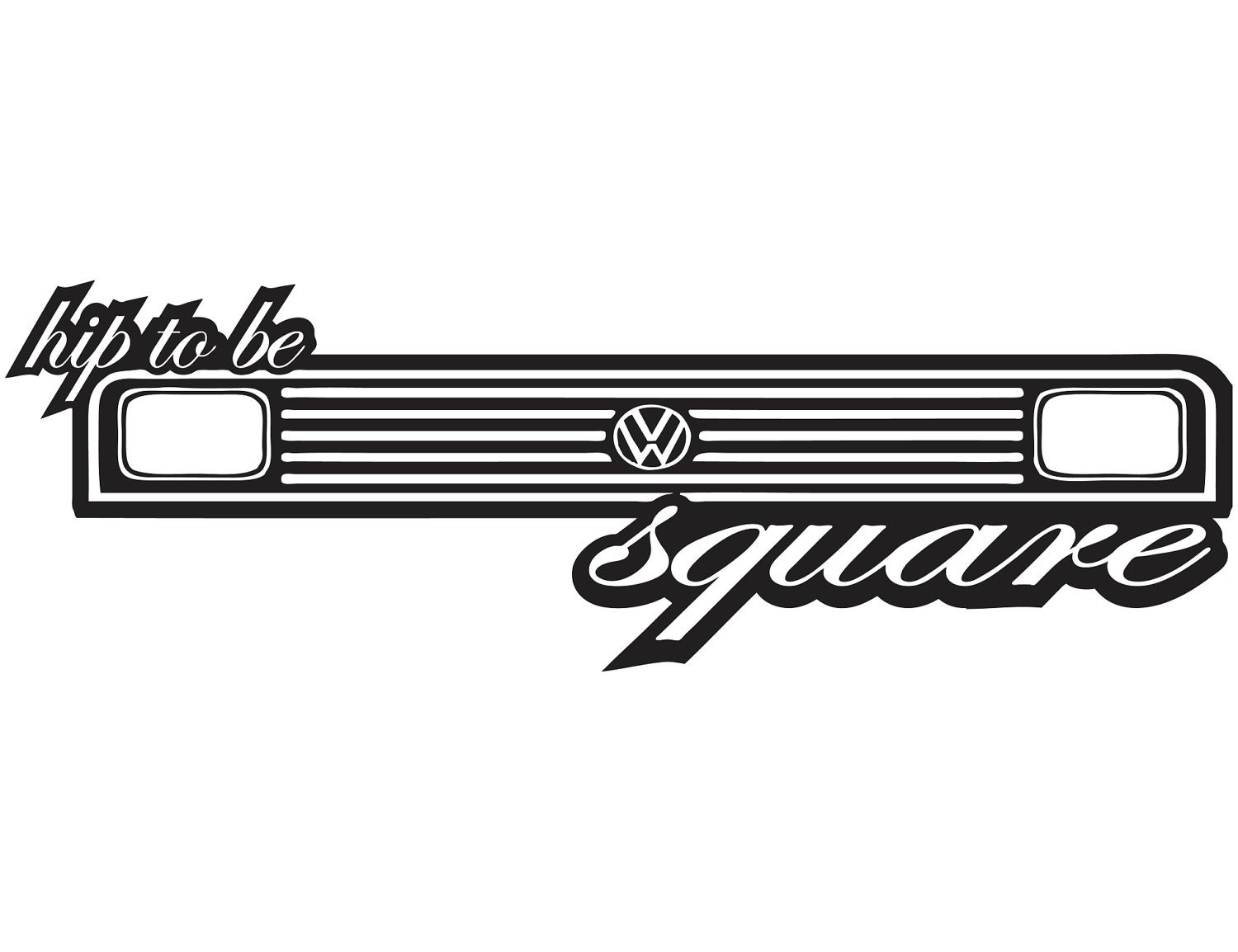 Vw Sticker Hip To Be Square