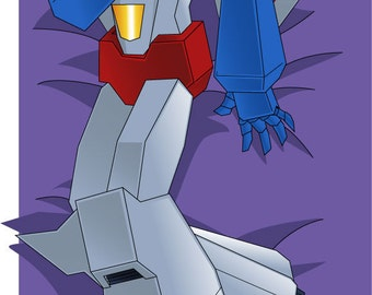 Transformers G1 Starscream - Body Pillow Case