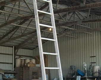 """Antique Wood Ladder with 14 Rungs - 168"""" long - Choose a Vintage Surface or Pick a Color"""