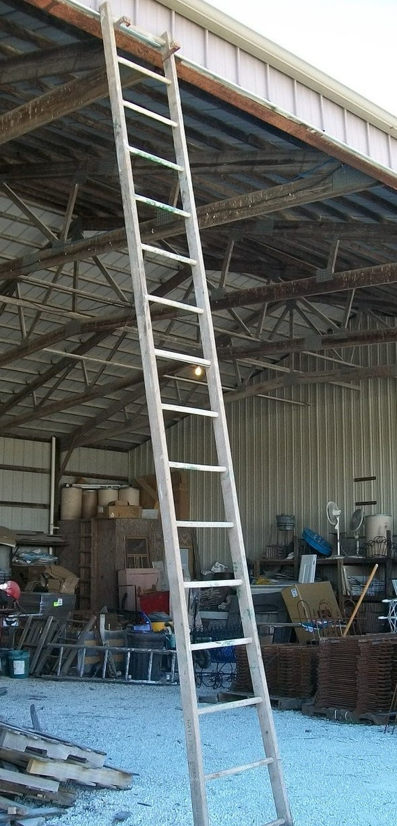 Ladders For Sale >> Antique Wood Ladder with 14 Rungs 168 long Choose a