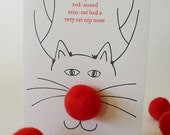 Cat Toy Christmas Card