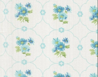 ONE Sweet Vintage Sheet Fat Quarter, Vintage Sheets, Vintage Fabric, Aqua Fat Quarter, Quilting Fabric, Sheet Fabric, FA3