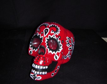Day of the Dead Hand Painted/Halloween/.Sugar Skull Sculptures