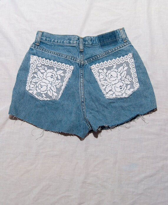 High Waisted Denim Shorts- Small/Medium
