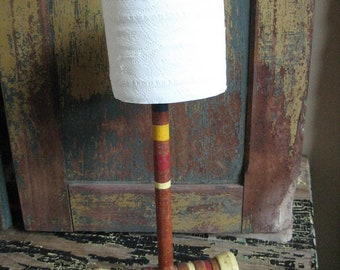 Smashing vintage croquet toilet paper holder (holds up to 4 rolls)